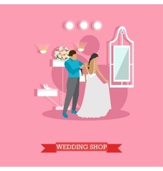 Wedding shop interior vector