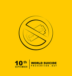 world suicide prevention day design vector image