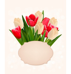 Motherss Day holiday background with bouquet of vector image vector image