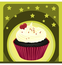 a cupcake and a wallpaper vector image