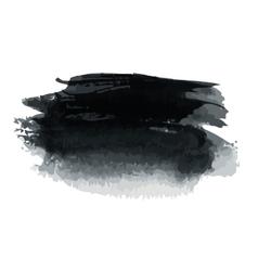 Black blot vector image vector image
