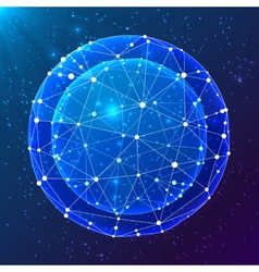 Blue abstract cosmic ball vector image