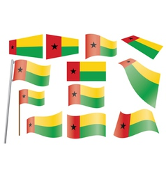 flag of Guinea-Bissau vector image vector image