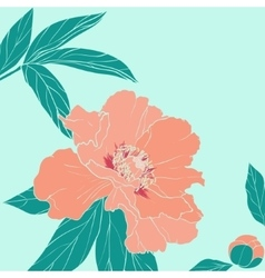 Hand drawn of ornate flower vector image vector image