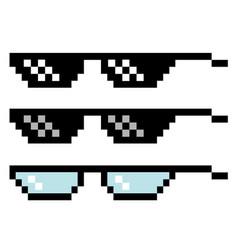 pixel glasses set vector image