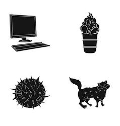 Wool care cafe and other web icon in black style vector