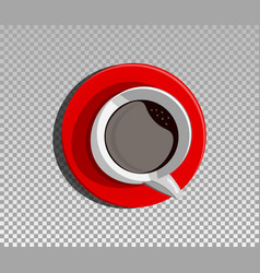 a red cup vector image