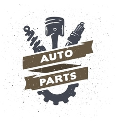 Auto parts hand drawn vector image