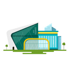 modern flat design buildings abstract vector image vector image