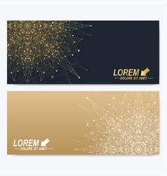 modern set of ornate horizontal cards in oriental vector image