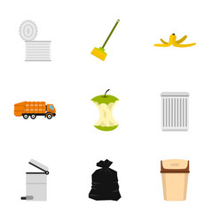recycling icons set flat style vector image