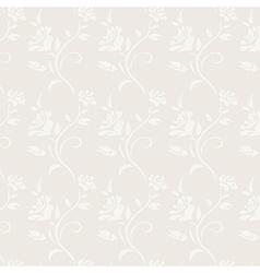 Roses grey vintage floral seamless pattern vector image