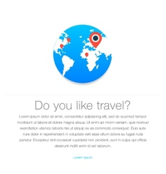 Travel icon Map of the earth vector image vector image