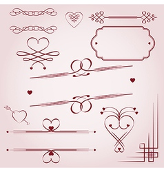 Valentines Day borders vector image