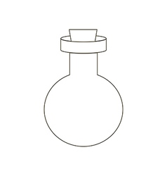 Bottle path vector image vector image