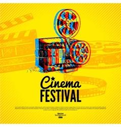 Movie cinema festival poster background vector image