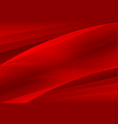red abstract waves background vector image