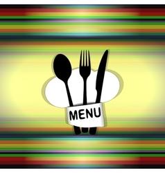restaurant menu with chef hat line uno vector image