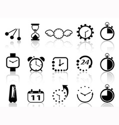 time concept icons set vector image