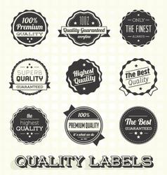 Vintage Premium Quality Labels vector image vector image