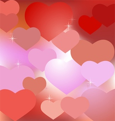 Abstract valentine background with hearts vector image