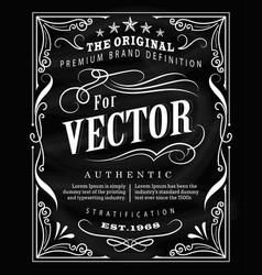 antique label typography poster vintage frame vector image