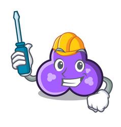 Automotive trefoil mascot cartoon style vector