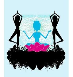 Banner yoga vector
