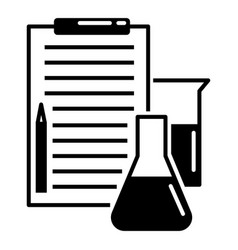 checklist chemistry lab icon simple style vector image
