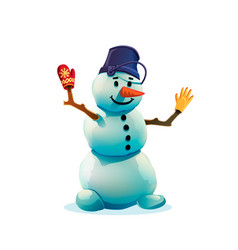 christmas snowman isolated on white background vector image