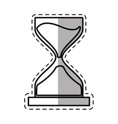 Clock glass sand business money shadow vector