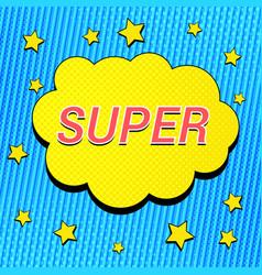 Comic bright super concept vector