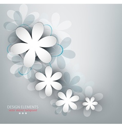 congratulatory background with flowers vector image