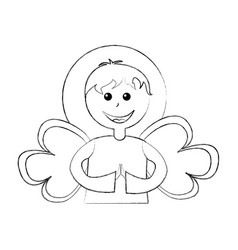 Cute angel manger character vector