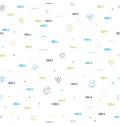 Cute childish seamless pattern hand drawn funny vector