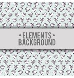 Diamonds background elements design vector