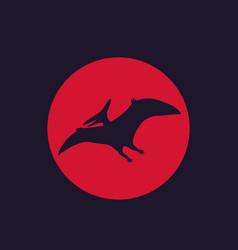 Dinosaur pterodactyl pteranodon vector