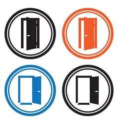 Door icons vector image