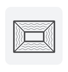 Duct dirty icon vector