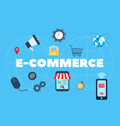 E-commerce online shopping and retail vector