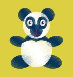 Flat shading style icon toy panda vector