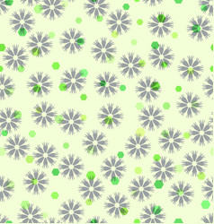 Flower and hexagon pattern seamless background vector