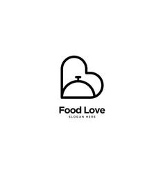 Food logo outline monoline vector
