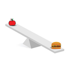 food on teeter vector image