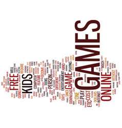 Free games text background word cloud concept vector