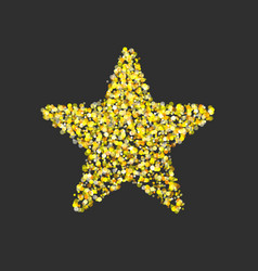 gold glitter star vector image