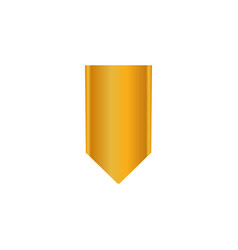gold tape icon medal vector image