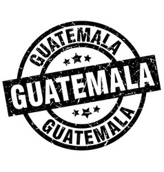 guatemala black round grunge stamp vector image