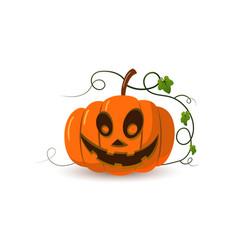 halloween pumpkin icon 3d autumn symbol cartoon vector image