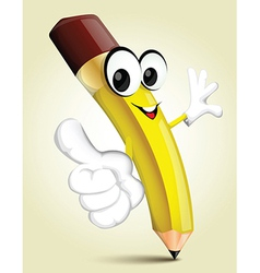 Happy Pencil cartoon vector